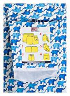 MC2 SAINT BARTH Badehshorts JEAN LIGTHING ELEPHANT TOY, Farbe: WEISS/ BLAU (Bild 1)