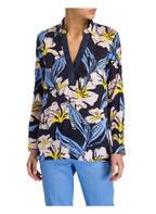 MORE & MORE Bluse, Farbe: DUNKELBLAU/ GELB/ HELLROSA (Bild 1)