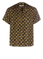 GIVENCHY Halbarm-Hemd Comfort Fit aus Seide, Farbe: SCHWARZ/ GELB (Bild 1)