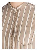 BRUNELLO CUCINELLI Seidenbluse, Farbe: SAND/ WEISS (Bild 1)