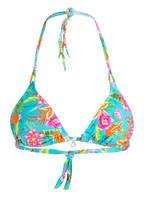 BANANA MOON Triangle-Bikini-Top PASSIFLORA YERO, Farbe: TÜRKIS/ PINK (Bild 1)