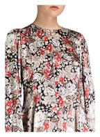 GANNI Kleid CAMERON , Farbe: BEIGE/ SCHWARZ/ ROT (Bild 1)