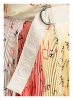 MONCLER GENIUS Plisseerock aus Seide, Farbe: GELB/ ROSA/ ROT (Bild 1)