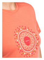 me°ru' Funktionsshirt ENKÖPING mit Merinowolle-Anteil, Farbe: ORANGE (Bild 1)