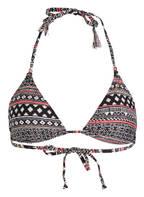 BRUNOTTI Triangel-Bikini-Top SANTHIA, Farbe: SCHWARZ/ KORALLE (Bild 1)