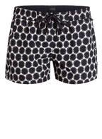 Marc O'Polo Shorts, Farbe: WEISS/ BLAU GEMUSTERT (Bild 1)