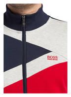 BOSS Sweatjacke SKAZ , Farbe: NAVY/ ROT/ GRAU (Bild 1)