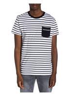 Marc O'Polo DENIM T-Shirt, Farbe: WEISS/ BLAU GESTREIFT (Bild 1)