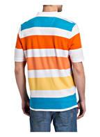 FYNCH-HATTON Piqué-Poloshirt Casual Fit , Farbe: WEISS/ ORANGE/ BLAU (Bild 1)
