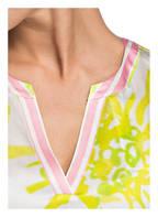 Grace Seidenbluse, Farbe: WEISS/ NEONGELB (Bild 1)