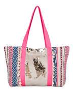 yippie hippie Strandtasche HELLAS , Farbe: PINK/ BLAU/ NATUR (Bild 1)