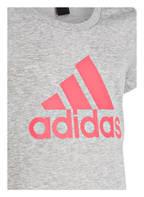 adidas T-Shirt MUST HAVES BADGE , Farbe: GRAU MELIERT (Bild 1)