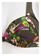 SHORT STORIES Neckholder-Bikini-Top, Farbe: OLIV/ PINK (Bild 1)