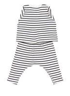 PETIT BATEAU Set: Jacke, Hose und Body, Farbe: WEISS/ DUNKELBLAU GESTREIFT (Bild 1)