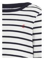 PETIT BATEAU Schlafanzug , Farbe: WEISS/ DUNKELBLAU GESTREIFT (Bild 1)