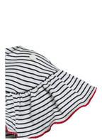 PETIT BATEAU Kleid, Farbe: WEISS/ DUNKELBLAU GESTREIFT (Bild 1)