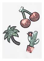 name it T-Shirt mit Paillettenbesatz, Farbe: WEISS (Bild 1)