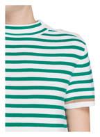 windsor. Kurzarm-Pullover, Farbe: GRÜN/ WEISS GESTREIFT (Bild 1)