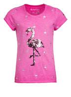 BLUE EFFECT T-Shirt mit Paillettenbesatz , Farbe: PINK (Bild 1)