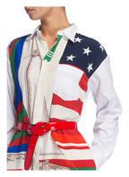 POLO RALPH LAUREN Hemdblusenkleid, Farbe: WEISS/ ROT/ GRÜN (Bild 1)