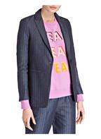 SET Blazer mit Leinenanteil , Farbe: BLAU (Bild 1)