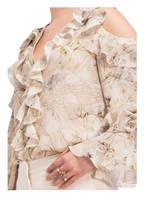 ALEXANDER McQUEEN Cold-Shoulder-Bluse, Farbe: IVORY GEMUSTERT (Bild 1)