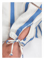 Studio Italy Leinenshirt, Farbe: BLAU/ WEISS/ CREME (Bild 1)