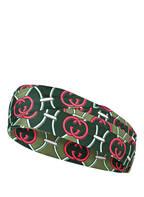 GUCCI Haarband aus Seide, Farbe: GRÜN/ PINK (Bild 1)