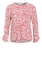 GANNI Blusenshirt, Farbe: ECRU/ ROT (Bild 1)