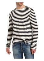 Nudie Jeans Longsleeve ORVA, Farbe: OFFWHITE/ DUNKELBLAU GESTREIFT (Bild 1)