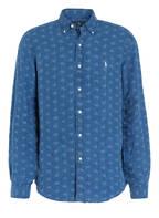 POLO RALPH LAUREN Leinenhemd Comfort Fit, Farbe: BLAU/ WEISS (Bild 1)
