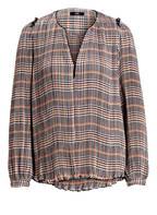 STEFFEN SCHRAUT Bluse, Farbe: WEISS/ SCHWARZ/ ORANGE (Bild 1)