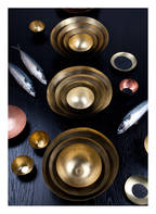 Tom Dixon 5er-Set Schalen FORM LARGE, Farbe: GOLD (Bild 1)