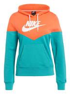 Nike Hoodie HERITAGE, Farbe: ORANGE/ GRÜN (Bild 1)