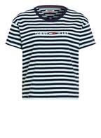TOMMY JEANS T-Shirt, Farbe: DUNKELBLAU/ HELLBLAU GESTRIEFT (Bild 1)