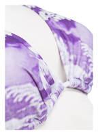 JET SET Triangel-Bikini JUSTINE HAWAII, Farbe: WEISS/ LILA (Bild 1)