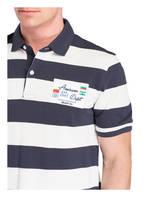 STROKESMAN'S Piqué-Poloshirt, Farbe: WEISS/ BLAU GESTREIFT (Bild 1)