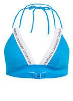 Calvin Klein Triangel-Bikini-Top CK LOGO, Farbe: BLAU (Bild 1)