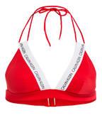 Calvin Klein Triangel-Bikini-Top CK LOGO, Farbe: ROT (Bild 1)