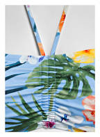 Hot Stuff Bandeau-Bikini-Top HAWAII, Farbe: HELLBLAU/ GRÜN/ ORANGE (Bild 1)