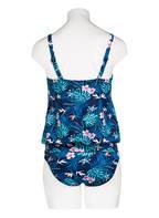 Hot Stuff Tankini-Top BLUE FLOWERS, Farbe: BLAU/ TÜRKIS (Bild 1)