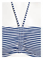 Hot Stuff Bandeau-Bikini-Top , Farbe: BLAU/ WEISS (Bild 1)