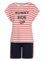 mey Lounge-Shorts VERA, Farbe: BLAU/ ROSA/ WEISS (Bild 1)