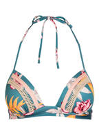 watercult Triangel-Bikini-Top HYPER VINTAGE , Farbe: PETROL/ ORANGE/ ROSA (Bild 1)