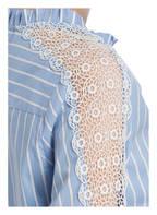Studio Italy Bluse, Farbe: HELLBLAU/ WEISS GESTREIFT (Bild 1)