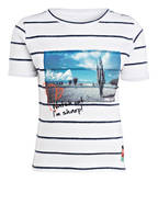 TOM TAILOR T-Shirt, Farbe: HELLGRAU/ DUNKELBLAU GESTREIFT (Bild 1)