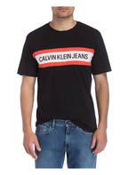 Calvin Klein Jeans T-Shirt , Farbe: SCHWARZ/ WEISS/ ROT (Bild 1)
