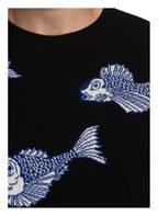 VALENTINO Pullover mit Cashmere-Anteil, Farbe: SCHWARZ/ BLAU/ WEISS (Bild 1)