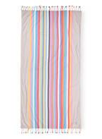 Cawö Strandtuch , Farbe: TÜRKIS/ GRAU/ PINK (Bild 1)