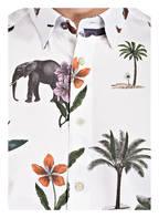 TED BAKER Halbarm-Hemd Slim Fit GROUP, Farbe: WEISS/ GRÜN/ ORANGE (Bild 1)